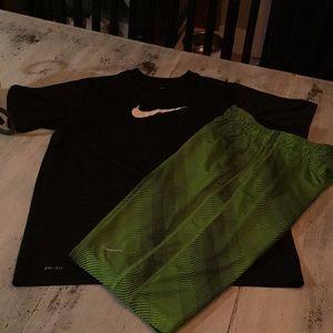Nike XL dri fit shirt Large basketball shorts